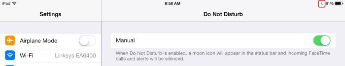 Do Not Disturb Apple iOS