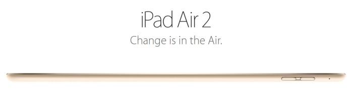iPad Air 2 Apple Event October 2014