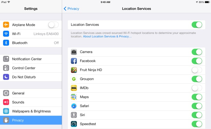 iOS Location Services